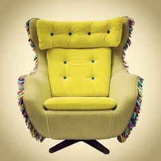 Photo by gibidesign - Bahia Chair #colorful #upholstered #chair #yellow #funky #furniture