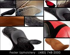 Need a fresh look for your motorcycle? Fesler Upholstery can breathe new life into that old seat. Give us a call today! #feslerinterior