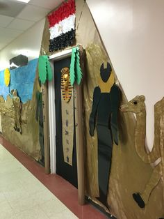 International night for Egypt display toddler classroom