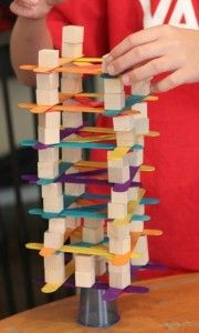 4 Engineering Challenges for Kids (Cups, Craft Sticks, and Cubes!) - Frugal Fun For Boys 4 Engineering Challenges for Kids with Cups, Craft Sticks, and Cubes Engineering Projects, Stem Projects, Science Projects, Engineering Challenges, Cup Crafts, Craft Stick Crafts, Craft Sticks, Crafts For Kids, Kids Diy