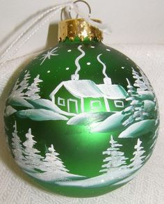 Hand Painted Christmas Ornament by Heather Wallingford $8.00