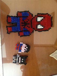 Perler beaded superheroes