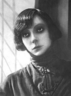"Asta Nielsen (1881 – 1972), Danish silent film actress-- inventor of the ""Smokey eye look""?  LOL"