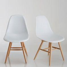 Chaise à coque plastique (lot de 2), Jimi La Redoute Interieurs - Chaise, tabouret, banc