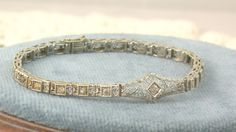 Platinum and 1 CT Diamond Filigree Bracelet