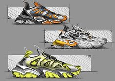 Anta Infinity Project on Behance Shoe Sketches, Fashion Sketches, Sneakers Sketch, Adidas Design, Industrial Design Sketch, Car Design Sketch, Custom Sneakers, Sneakers Design, Trail Shoes