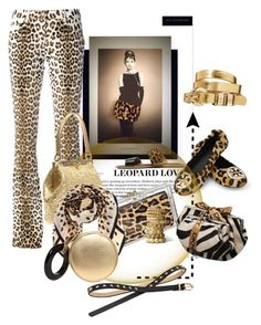 """Accessorize with Leopard Print & Gold"" by betiboop8 ❤ liked on Polyvore featuring UGG Australia, Roberto Cavalli, Tory Burch, Dolce&Gabbana, Perrin, ASOS and Red Herring"