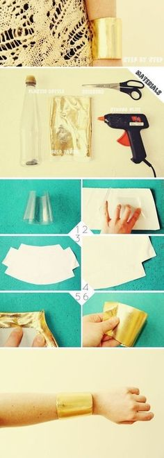 How to make a cuff. Diy Gold Cuff - Step 1