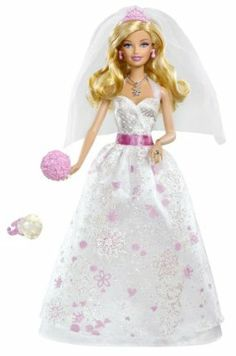Barbie Bride Barbie Doll - New 2012 Version by Mattel. $20.81. A ring for the girl adds to the role-play. Barbie is ready for her fairytale wedding. Comes with doll, wedding dress, ring, and flower bouquet.. Exquisite wedding dress has sparkles and pink accents. Girls can play out Barbies wedding day dreams. From the Manufacturer                Barbie Bride Doll Collection: Discover Barbie Fairytale Magic with the Barbie Bride doll. Every princess dreams of the day she wi...