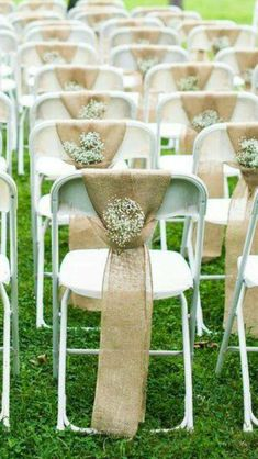 Are you planning a wedding upon a tight budget? look this list of creative wedding venue ideas for the ceremony and reception that will help you keep money. *** Find out more at the image link. Wedding Chair Decorations, Wedding Chairs, Wedding Centerpieces, Wedding Table, Fall Wedding, Rustic Wedding, Wedding Ceremony, Our Wedding, Wedding Venues