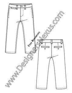 V15 Infant / Toddler Pants Kids Illustrator Fashion Flat Sketch Template