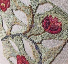 jane austen rug pattern is punch hooked