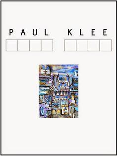 Pintores famosos: Paul Klee para niños. Cuadros para colorear. Vídeos y cuentos de Paul Klee.