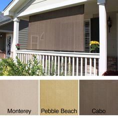 Shop for Arlo Blinds Keystone Fabrics Energy-saving Exterior Solar Shade. Get free delivery On EVERYTHING* Overstock - Your Online Home Decor Outlet Store! Outdoor Blinds, Outdoor Sun Shade, Exterior Shades, Best Blinds, Traditional Porch, Shade Screen, Solar Shades, Sun Shades, Windows