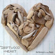 DIY: Driftwood Heart Art