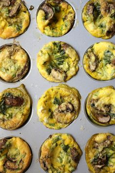 Easy on the go egg cups for breakfast!n Going to add veggie chorizo!