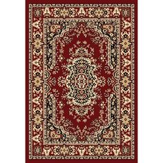 Chelsea Collection Red Traditional Persian Area Rug (5'2 x 7'2) | Overstock.com Shopping - The Best Deals on 5x8 - 6x9 Rugs