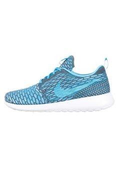 ROSHE ONE FLYKNIT - Zapatillas - dark grey/clearwater blue/white