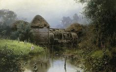 Wassilij Dimitriewitsch Polenow (1844-1927). Old mill, 1880. Canvas, oil.