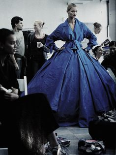 Carmen Kass for Vogue. Dior. | blue dress | couture fashion | style