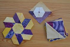 Contrast hexagon quilt pieces. What a cool idea! (couldn't find link to instructions; photo is self explanatory)