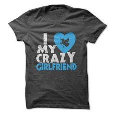 I love my crazy Girlfriend ship worldwide. This great custom product in Black, DarkGrey, Red, RoyalBlue colors from our  category can be printed just for you in the size and style you like. The design I love my crazy Girlfriend DarkGrey Hoodies was created by andreea and uploaded to cupidtee.com for you to have printed on a . Next to a host of other great customized designs, you can find this I love my crazy Girlfriend DarkGrey Hoodies design..