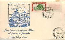 Peru 1962 Fdc centenario Creacion de la provincia de Pomabamba
