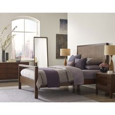 Calvin Klein Queen Cooper Bed (Cooper Canopy Bed Queen), White