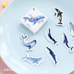 45 pcs/lot Animal Blue whale fish mini paper sticker decoration DIY album diary scrapbooking label sticker kawaii stationery #>=#>=#>=#>=#> Click on the pin to check out discount price, color, size, shipping, etc. Save and like it!