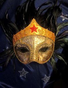 WonderWoman Venetian Mask by PetiteMascarade