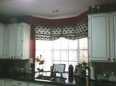 Cabral window treatments on pinterest bay window kitchen gray