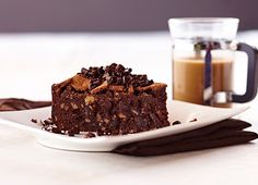 Crunchy on the top and rich at the center. This flourless chocolate cake is a must-try