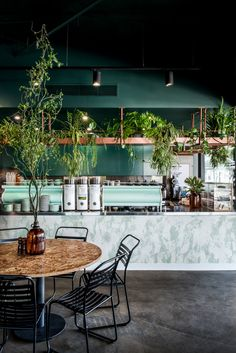 Interior Design By Archie Bolden. Archie Bolden designed the second iteration of iconic Gold Coast café, Elk Espresso The caf Espresso At Home, Espresso Cafe, Coffee Shop Interior Design, Coffee Shop Design, Cafe Design, Coffee Cafe Interior, Rustic Coffee Shop, Rustic Cafe, Espresso