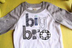 LONG SLEEVE Big Brother Shirt, Big Bro, Sibling Shirts, Big Little Shirts, Big Brother T-Shirt, Big Bro T-Shirt. $32.98, via Etsy.