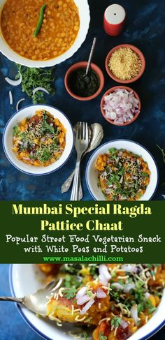Dec 2019 - Step by Step Recipe with tips to make Indian Street Food and Mumbai Famous Chaat Recipe, Ragda Pattice or Ragda Patties at home. Ragda Patties Recipe, Paratha Recipes, Healthy Breakfast Options, Chaat Recipe, Best Party Food, Indian Food Recipes, Ethnic Recipes, Chaat Masala, Vegetarian Snacks