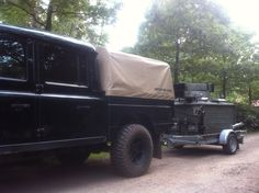 Land Rover Defender with Army Kitchen