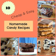10 Cheap & Easy Homemade Candy Recipes | These copycat candy recipes are almost too good to be true!