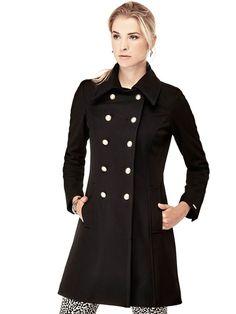 MANTEAU CROISE OFFICIER Guess prix promo Manteau Femme Guess 239.90 €