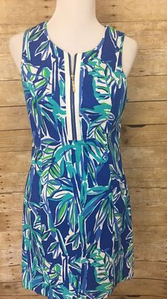 55b470375d3 Lilly Pulitzer Penelope dress blue crush bamboom back cut out women 10 Worn  Once