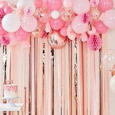 Rose Gold and Blush Pink Balloon Garland, Party Balloon Garland, Pink Party Garland, Party Garland K Décoration Rose Gold, Pink Und Gold, Pink White, Pearl White, Ivory White, Gold Confetti Balloons, White Balloons, Foil Balloons, Latex Balloons