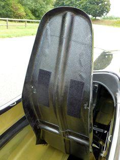 carbon fiber ergonomic tilting seat on WAW 291 velomobile