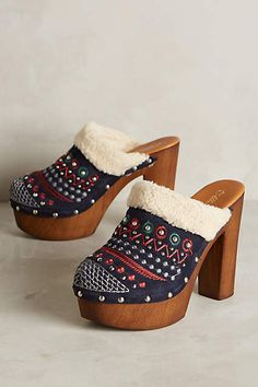 Miss Albright Terrestrial Clogs - anthropologie.com