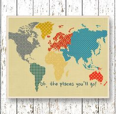 Hey, I found this really awesome Etsy listing at https://www.etsy.com/listing/204937334/world-map-oh-the-places-youll-go-dr