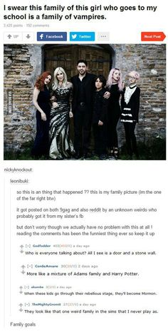 Probably a family of vampires | funny tumblr post