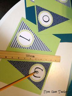 diy classroom decorations | Classroom ideas / Classroom DIY: DIY Welcome Banner
