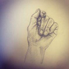 Hand drawing in pencil.