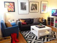 the tiny apartment living room   awfully big adventure blog