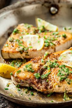 Lemon Garlic Swordfish Recipe   Chew Out Loud Fish Dishes, Seafood Dishes, Fish And Seafood, Seafood Recipes, Gourmet Recipes, Dinner Recipes, Cooking Recipes, Healthy Recipes, Cooking Fish