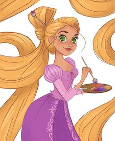 Done by punzy princesas disney, rapunzel dibujo, p Deco Disney, Arte Disney, Disney Fan Art, Disney Magic, Film Disney, Disney Rapunzel, Disney Princesses, Punk Disney, Disney And Dreamworks