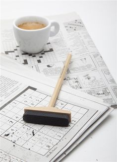 A Pencil With A Broom-Like Eraser $9